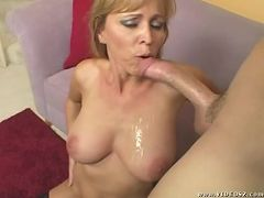 nicole moore - blonde,facial cumshot,lingerie,mature,one on one,titty fuck