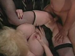 Horny blondie with mega big boobs loves to fuck hard