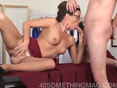 Hot MILF plowed by much younger stud