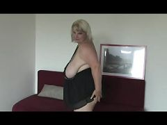 BBW mom June Kelly presents mega boobs