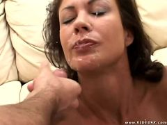 vanessa videl - big boobs,brunette,facial cumshot,mature,threesome