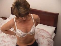 Small tit older babe Eva goes in for a checkup and ends up getting her nipples licked