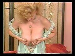 Mega busty mom with boobs fully of hot milk