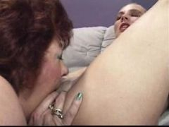 Hardcore redhead gramps lustfully pussy eating a smooth young pussy