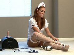 Naughty nurse morgan regins takes us behind the scenes at anilos.com
