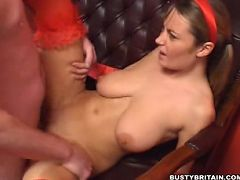 Big juggs Alexis May gets licked out and riding on big penis