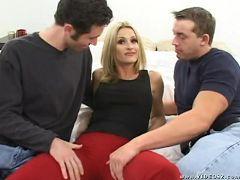 lauren - big boobs,blonde,double penetration,facial cumshot,mature,threesome