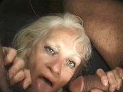 woman getting her own facial cumshots