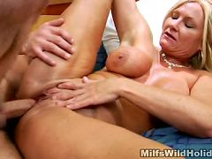 Horny MILF gets her pussy pleased with cock