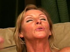 Horny grandma pleasing a stiff dick with her mouth