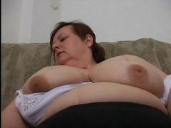 GILF fatty enjoying a nasty pussy humping