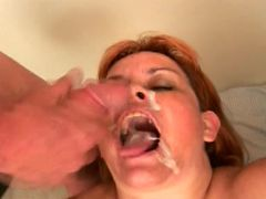 Granny jousting two cocks and get glazed