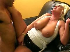 Busty blonde milf knobbed hard in her cunt