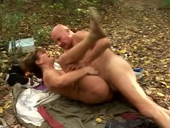 Sexy Mature babe Szandra getting hardcore fucked outdoor in the woods live