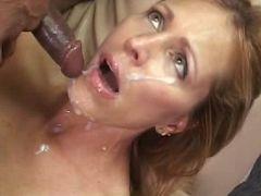 Lusty MILF enjoying a mouthful of ebony cock