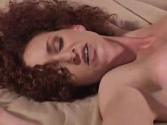 Smooth and seductive brunette momma enjoying sensual pussy foreplay