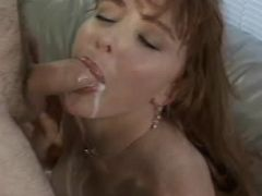 Blonde mature babe sucking cock until it cums