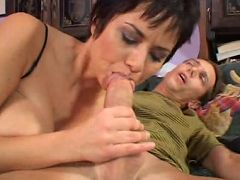 Beautiful older woman Isabella Rosa gets on top and rides out a huge dick