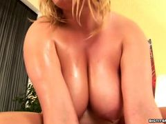 Kelly gets her huge melons fucked and impaled on large boner