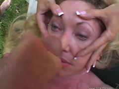 samantha taylor - big boobs,blonde,blowjob,deep throat,facial cumshot,mature,oral sex,outdoor,titty fuck