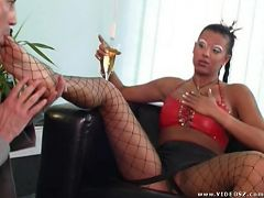 anette a cock - anal,big boobs,brunette,fishnet,mature,titty fuck